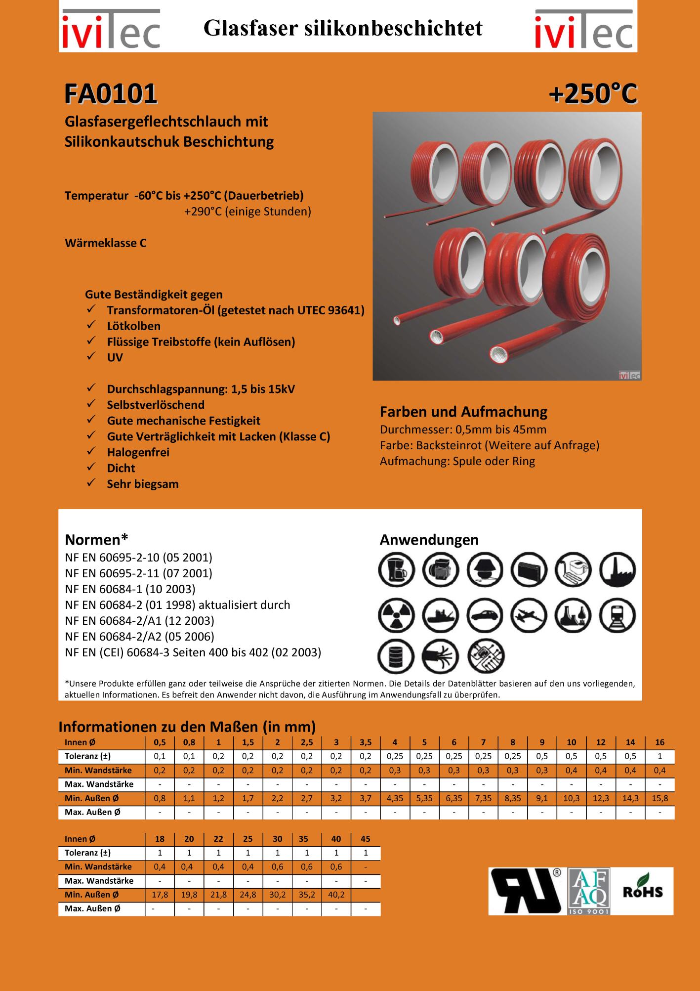 100 Meter SCHWARZ Bougierrohr ISOLIERSCHLAUCH AUS WEICH PVC 7,0 x 0,7 mm