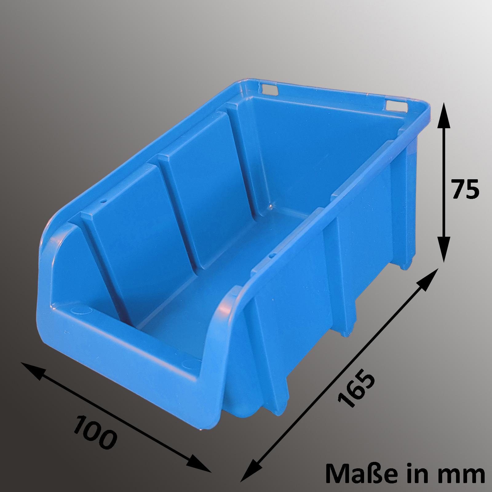 sichtlagerkasten sortierbox stapelkisten sch tte lagerbox stapelbox sets deckel ebay. Black Bedroom Furniture Sets. Home Design Ideas