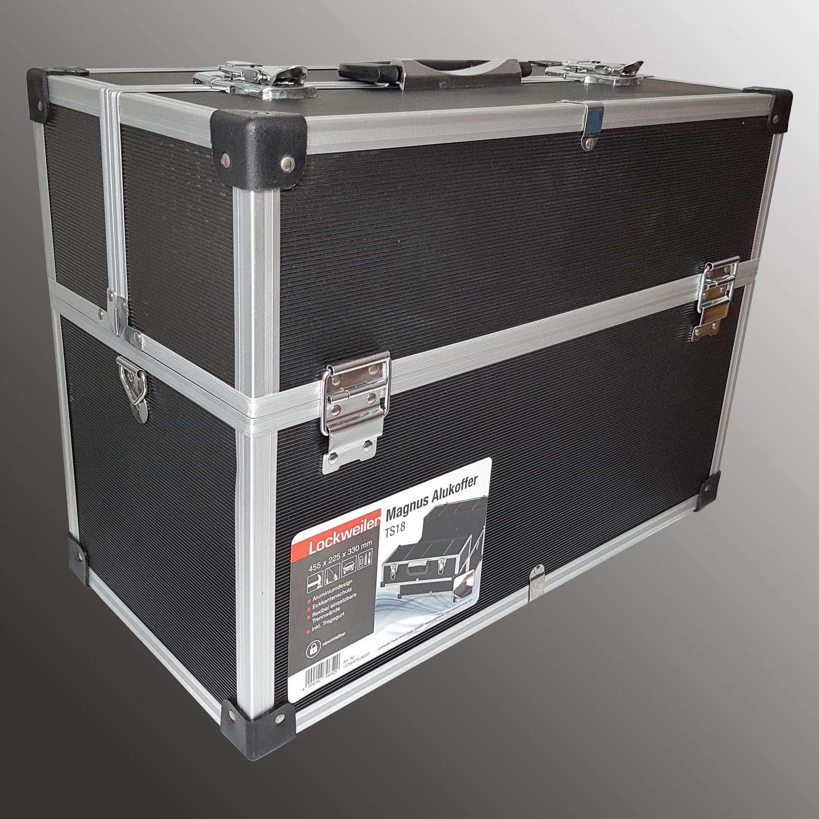 Werkzeugkoffer Leer Werkzeugkiste Maschinenkoffer Alu Metall Koffer